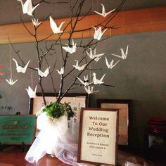 #welcomtree #ウェルカムボード #和装 #和 #JAPAN #金沢 #辻家庭園 #wedding #DIY #折り紙