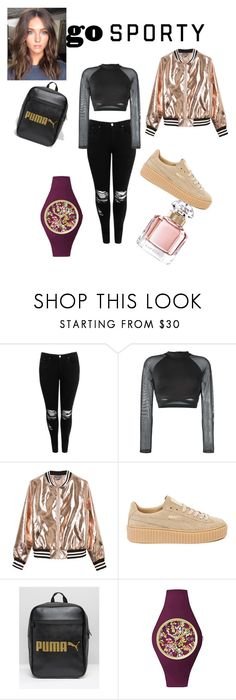 """casual"" by fadilabanjic on Polyvore featuring moda, Boohoo, Reebok, Sans Souci, Puma, Ice-Watch, Guerlain, gold, black i sporty"