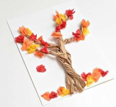 4 Paper Bag Crafts for Fall-Easy Fall crafts for all kids! psalms craft each leaf could be a dream or aspiration the kids want to accomplish in God. Add roots and blue tissue paper underneath with the verse. Fall Paper Crafts, Easy Fall Crafts, Thanksgiving Crafts For Kids, Paper Crafting, Harvest Crafts For Kids, Manualidades Halloween, Halloween Crafts, Holiday Crafts, Scarecrow Crafts