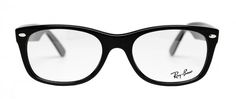 Ray Ban Unisex Rx5184 2000 Shiny Black Square Frame for $180.00. Find more great deals on prescription Ray-Ban frames at LensDirect!     #glasses