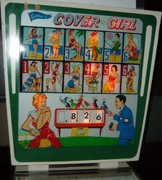 Gottlieb Cover Girl 1962 coin operated pinball wedgehead game