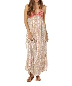 Look at this #zulilyfind! White & Pink Della Maxi Dress #zulilyfinds
