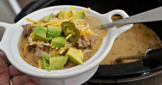 Make the Best Slow Cooker Keto Taco Soup Recipe in Your Crockpot Appetizer Recipes, Keto Recipes, Healthy Recipes, Soup Recipes, Quick And Easy Taco Soup Recipe, Instant Pot Dinner Recipes, Recipes Dinner, Keto Taco
