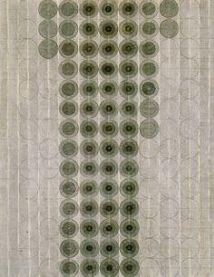 Eva Hesse -Untitled, 1966. Black ink wash and pencil.