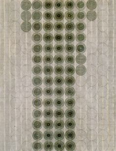 Eva Hesse -Untitled, 1966. Black ink wash and pencil.