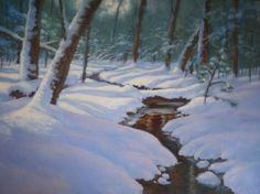"""Snow Shadows"" oil/18x24 www.hillaryscottstudios.com"