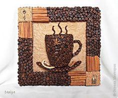 Картина панно рисунок Мастер-класс Аппликация ПАННО ЧАШКА КОФЕ+МК ПО ПОЛОЙ ЧАШКЕ Продукты пищевые фото 1 Coffee Bean Decor, Coffee Bean Art, Coffee Theme, Coffee Crafts, Coffee Beans, Diy Crafts Jewelry, Cork Crafts, Diy And Crafts, Coffee Grain