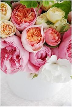Feeling floral: English tea roses.