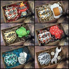 Father's day Cookies - Father's day Cookies Iced Cookies, Cute Cookies, Cupcake Cookies, Cupcakes, Summer Cookies, Holiday Cookies, Halloween Cookies Decorated, Sugar Cookie Royal Icing, Cookie Packaging