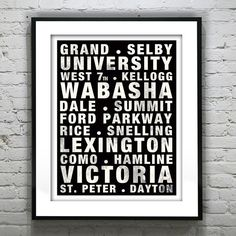Boston Poster Subway Vintage Massachusetts Art Print MA. This Poster shows different areas around the city in a bold font with aged, distressed