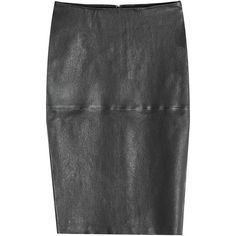 By Malene Birger Leather Pencil Skirt (€479) ❤ liked on Polyvore featuring skirts, black, going out skirts, party skirts, cocktail skirt, evening skirts and knee length skirts