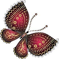 "Photo from album ""Рисованные бабочки"" on Yandex. Butterfly Clip Art, Butterfly Pictures, Butterfly Painting, Butterfly Crafts, Butterfly Wallpaper, Butterfly Design, Butterfly Mobile, Zentangle, Art Papillon"