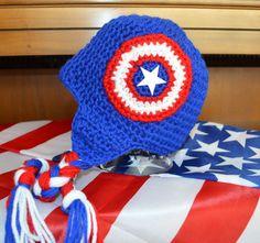 Super Hero Cartoon America Crochet Hat by HotOffTheHookCrochet faebd2bf10d