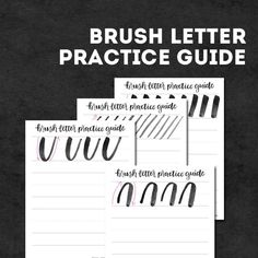 Use this Brush Lettering Practice Sheet to get you started with your lettering skills! These were designed by the super talented Olivia from Random Olive! Brush Lettering Worksheet, Hand Lettering Art, Hand Lettering Tutorial, Creative Lettering, Printable Budget Sheets, Cleaning Schedule Printable, Fancy Writing, Cricut Tutorials, Freelance Graphic Design