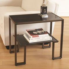 Buy the Global Views Bronze Direct. Shop for the Global Views Bronze One-Up End Table made from Copper Plated Iron with a Bronze Finish and Granite Top and save. Decor, Furniture, Living Room Furniture, Instyle Decor, Bliss Home And Design, Side And End Tables, Table, End Tables, End Tables With Storage