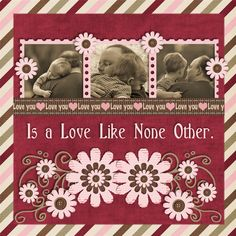 The Love of a Child - Is a Love Like None Other. (right side of a 2 page layout)
