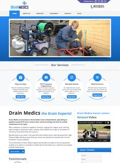 Drain Medics are located in SE QLD and specialise in CCTV camera inspections and asset maintenance.
