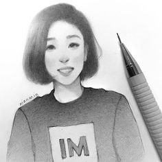 Ok I normally don't draw girls but I love Lia Kim :) I hope this looks like her at least a little ahaha... @liakimhappy ♡ #liakim #1million