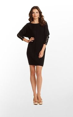 Bloomfield Sweater Dress in Black Shake Shake Shake Stitch $198 (w/o 11/3/12) #lillypulitzer #fashion #style by tamera