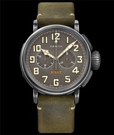 Cellini Jewelers Heritage Pilot Cafe Racer Aged stainless steel 45mm automatic movement