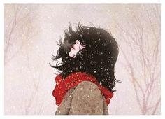 Anime GIRL = Cute//Cool//Cold//Nice//Winter//Snow//Black...