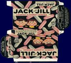 Jack and Jill illustrated candy box - 1960's by Just Born, Inc