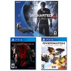 Playstation 4 Slim Uncharted 4 Console Bundle  Overwatch  Metal Gear Solid V $309.99  FS @ eBay #LavaHot http://www.lavahotdeals.com/us/cheap/playstation-4-slim-uncharted-4-console-bundle-overwatch/126756