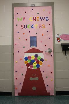 Bubble Gum Classroom Door Cover