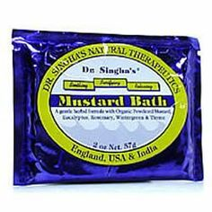 Mustard Bath 2 oz, ( Multi-Pack) by Dr. Singha's. $28.08. MULTI VALUE 12-PACK! You are buying TWELVE of Mustard Bath 2 oz,. Quantity: MULTI VALUE PACK! You are buying Description: MUSTARD BATH 2 OZ Unit Size: 2 OZ Brand: DR. SINGHA'S MUSTARD BATH. 12-unit VALUE PACK of Mustard Bath 2 oz, 2 oz - Mustard Bath has been renowned for its stimulating, rejuvenating and cleansing qualities and may be helpful with stress, muscle and joint soreness, congestion, skin conditions,...