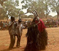 Mask at Dedougou Festival