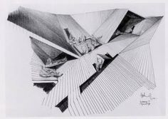 Claude Parent's participation project to the Venice Biennale 1970 Classic Architecture, Architecture Drawings, Architecture Plan, Residential Architecture, Architecture Student, Venice Biennale, Concept Diagram, Frank Gehry, Architectural Elements