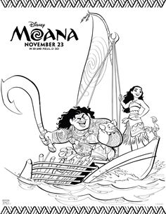 moana printable coloring activity pages - Activity Printables