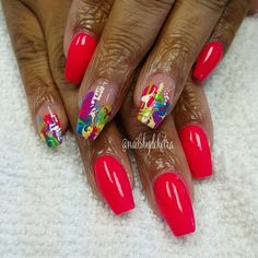 A little red by @nailsbydeketra