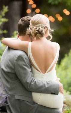 D2473 Classically Simple Wedding Dress by Essense of Australia