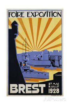 Foire Exposition Brest Poster Giclee Print