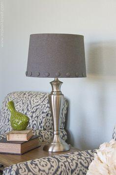 hot glue lamp shade cover