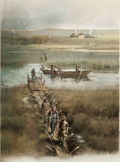 Fernando G. Baptista - Bronze Age Plumstead Portal, London. Nomads built tracks from tree trunks across these marshes to make travel and hunting easier. Crossrail teams found a stone hammer and wooden stakes with pointed ends. More