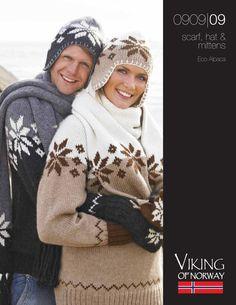 Eco Alpaca Scarf, Hat & Mittens – 0909-09 | Knitting Fever Yarns & Euro Yarns