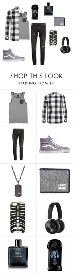 """""""Bad Enough For You: ...YOU Want Guitar Lessons?"""" by gravityfallsgirl33 ❤ liked on Polyvore featuring RVCA, Icebreaker, Balmain, Vans, Rhona Sutton, Herschel Supply Co., Marcelo Burlon, B&O Play, Chanel and Axe"""