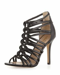 Strappy Leather Sandal, Black by Joan and David at Neiman Marcus Last Call.