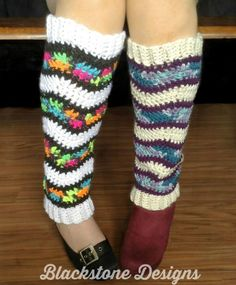 Kaleidoscope Leg Warmers free pattern by Blackstone Designs available exclusively on Cre8tion Crochet