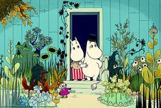 Moomin Picture Poster 24 x 30 cm Tove Jansson Moominmamma and Moominpappa Tove Jansson, Les Moomins, Dulwich Picture Gallery, Moomin Valley, Animation, Children's Book Illustration, Yolo, Belle Photo, Fairy Tales