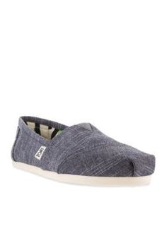 TOMS Chambray Classic Slip On Shoes