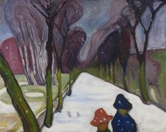 "Edvard Munch, ""New Snow in the Avenue,"" 1906, Munch Museum"