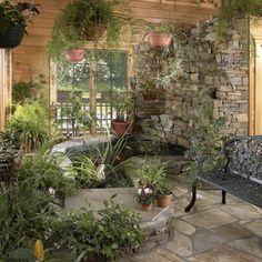 indoor koi pond sunroom - Google Search