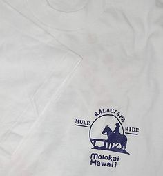 Hawaii Molokai Kalaupapa Leper Colony Mule Ride T-shirt L NW Vintage