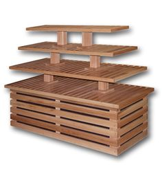 """070003 Four Tier Bakery Table 72""""L x 30""""W x 54""""H"""