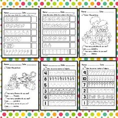 Fall Counting Worksheets Teaching Tools, Teaching Math, Classroom Games, Classroom Decor, Math Workshop, Math Numbers, Number Sense, Numeracy, Teaching Resources