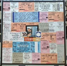 a page with all concert tickets, movie stubs, passes. Hmmm...I might try this
