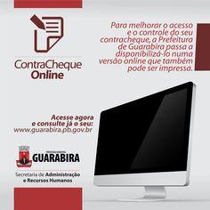 Para melhorar o acesso e o controle do seu contracheque, a Prefeitura de Guarabira passa a disponibilizá-lo numa versão online que também pode ser impressa. Acesse: http://www.guarabira.pb.gov.br/